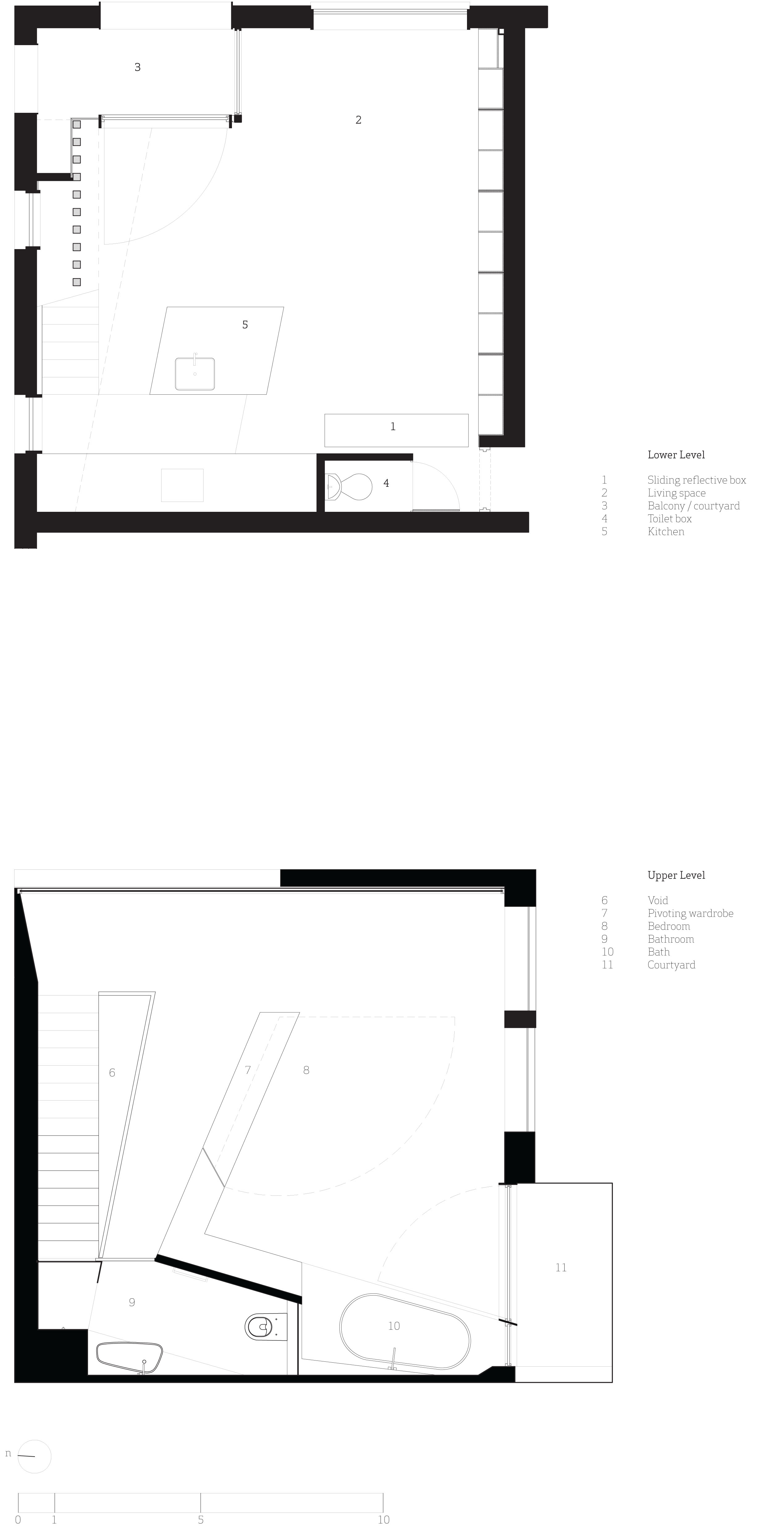Cubby House floor plan for the lower and upper levels
