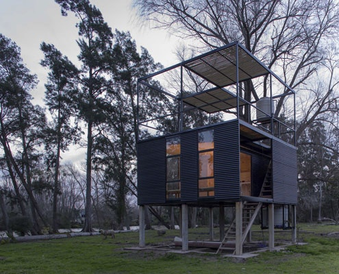 Delta Cabin by AToT Architects (via Lunchbox Architect)