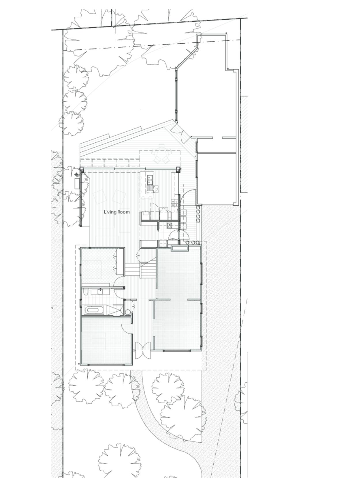 Huge Door and Custom Screen Help This Living Area Embrace the Garden