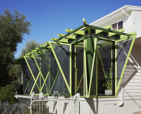 Green Shutter House by OOF! Architects (via Lunchbox Architect)