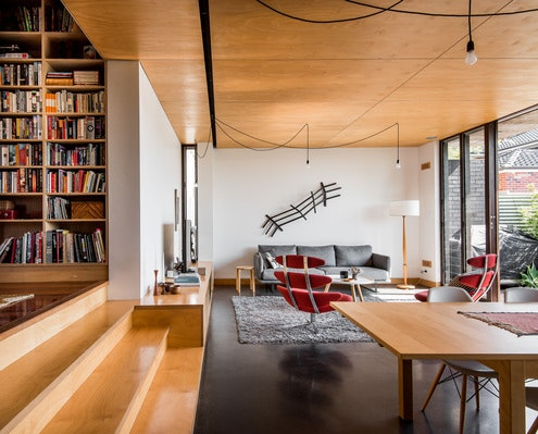 Gresley Monk Residence by Gresley Abas Architects & Justine Monk Design (via Lunchbox Architect)