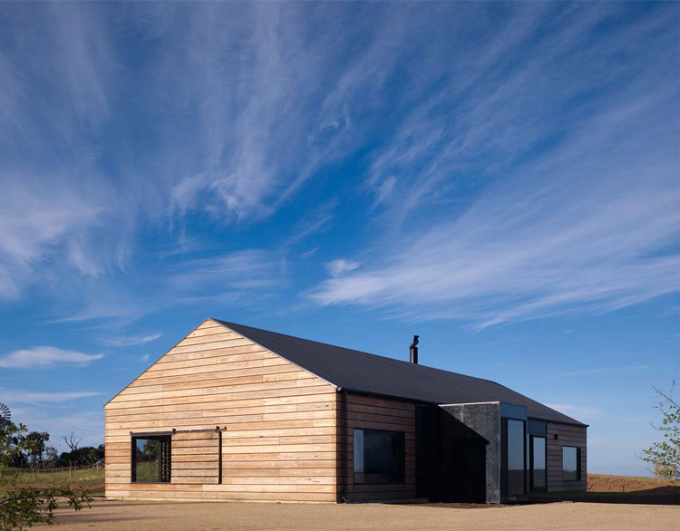 Hill Plain House is inspired by Victorian-era agricultural buildings
