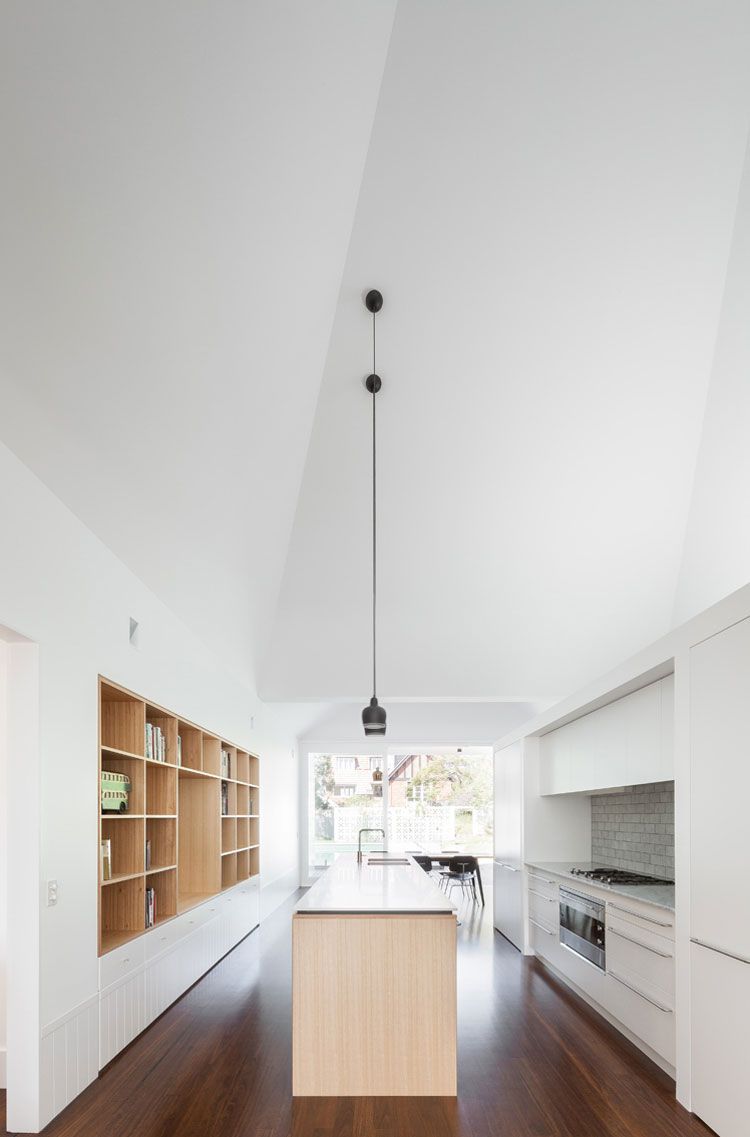 Generous lines of sight through House Chapple make the home feel spacious and light