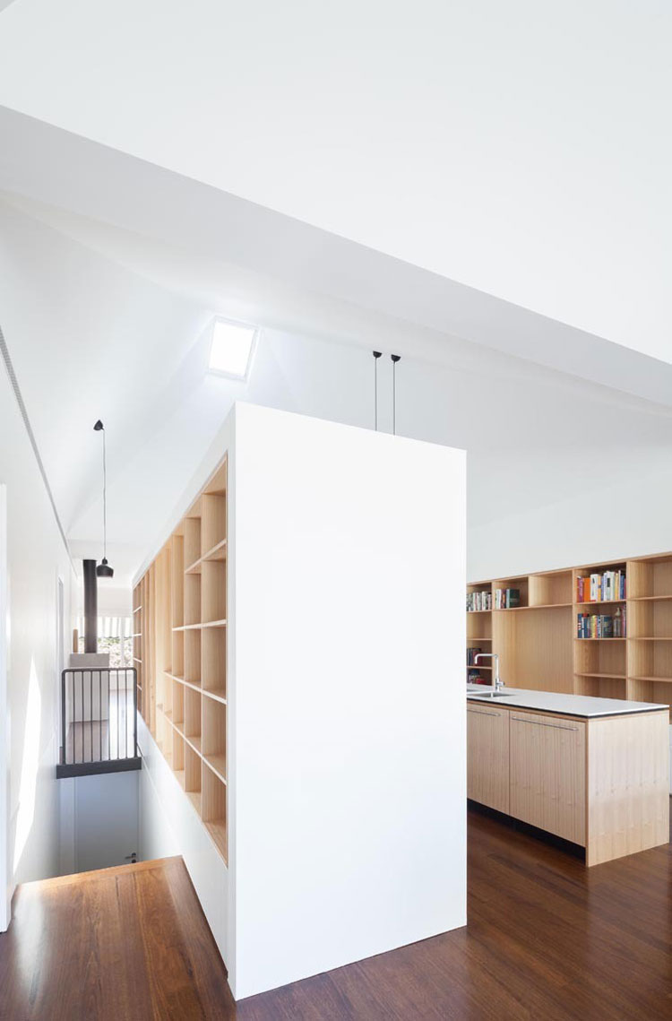 House Chapple features built in storage throughout to make the most of the space