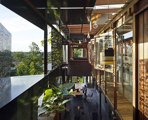 Left-Over-Space House by Cox Rayner Architects (via Lunchbox Architect)
