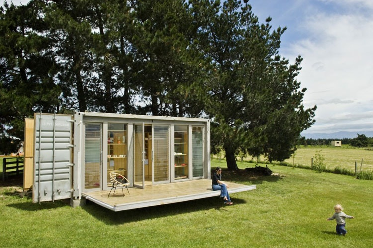 Port-a-Bach Portable Shipping Container Home by AtelierWorkshop Architects (via Lunchbox Architect) (via Lunchbox Architect)
