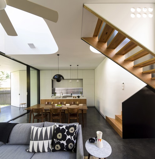 Unfurled House by Christopher Polly Architects (via Lunchbox Architect)
