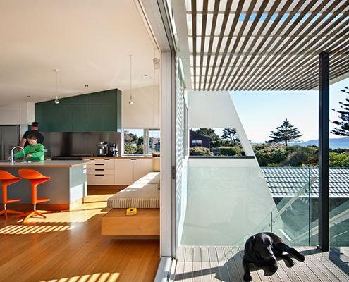 Waikanae House by Parsonson Architects (via Lunchbox Architect)